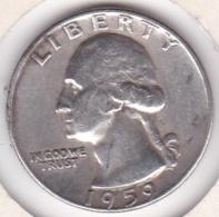 Etats-Unis , Quarter Dollar 1959 D  DENVER , Washington , En Argent - Federal Issues