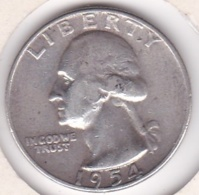 Etats-Unis , Quarter Dollar 1954 D  DENVER , Washington , En Argent - Federal Issues