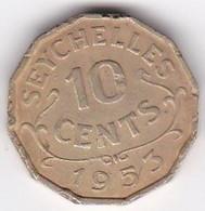 Seychelles 10 Cents 1953 . Elizabeth II . KM# 10 - Seychelles