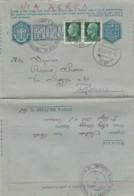 BIGLIETTO POSTALE FRANCHIGIA 1942 PM61 +2X25 C. -UNITO A VOI (IX669 - 1900-44 Vittorio Emanuele III