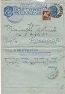 BIGLIETTO POSTALE FRANCHIGIA 1943 PM550 +50 C. PA-ARMI E CUORI (IX673 - 1900-44 Vittorio Emanuele III
