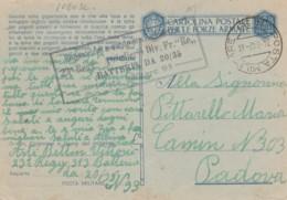 CARTOLINA FRANCHIGIA 1942 PM 93 JUGOSLAVIA -QUESTA LOTTA GIGANTESCA (IX853 - 1900-44 Vittorio Emanuele III