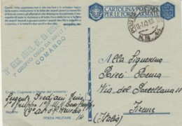 CARTOLINA FRANCHIGIA 1943 PM14 QUESTA LOTTA GIGANTESCA (IX645 - 1900-44 Vittorio Emanuele III