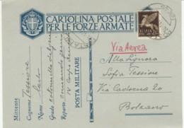 CARTOLINA FRANCHIGIA PM49A +C.50 PA 1941 (IX657 - 1900-44 Vittorio Emanuele III