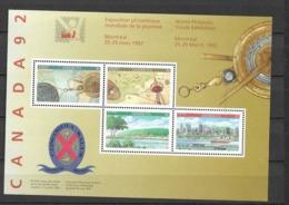 1992 MNH Canada Mi Block 8 - 1952-.... Elizabeth II