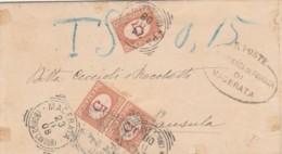 LETTERA 1908 3X5 SEGNATASSE TIMBRO MACERATA BORGO CAVOUR (IX760 - 1900-44 Vittorio Emanuele III