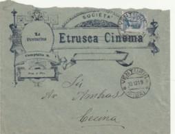 LETTERA 1919 C.25 ETRUSCA CINEMA - TIMBRO VENTURINA PISA CECINA (IX761 - 1900-44 Vittorio Emanuele III