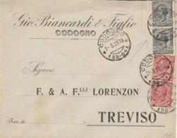 LETTERA 1923 2X10+2X15 TIMBRO CODOGNO (IX681 - 1900-44 Vittorio Emanuele III