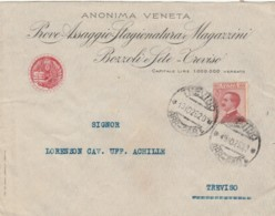 LETTERA 1925 C.60 TIMBRO TREVISO -ANONIMA VENETA (IX710 - 1900-44 Vittorio Emanuele III