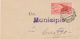 LETTERA 1931 20 C. TIMBRO VICENZA -ATTESTATO (IX751 - Marcophilia
