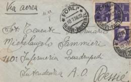 LETTERA 1936 2X1+50 TIMBRO FORLI' DIRETTA DESSIE AFRICA ORIENTALE (IX613 - 1900-44 Vittorio Emanuele III