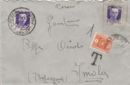 LETTERA 1937 50 C. +50 NON BUONO+SEGNATASSE L.1- TIMBRO PESARO (IX739 - 1900-44 Vittorio Emanuele III