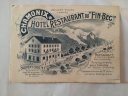 HOTEL RESTAURANT DU FIN BEC - Chamonix-Mont-Blanc