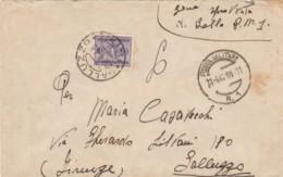 LETTERA 1943 PM1 SEGNATASSE C.50 TIMBRO GALLUZZO FIRENZE (IX771 - 1900-44 Vittorio Emanuele III