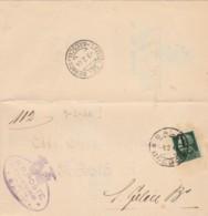 LETTERA 1944 (8/2 DOPO 18 GIORNI) 25 C. SS TIMBRO SALO' BRESCIA S.FELICE DEL BENNACO (IX865 - 1900-44 Vittorio Emanuele III