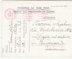 LETTERA PRIGIONIERI DI GUERRA 1945 (IX743 - 1944-46 Lieutenance & Humbert II