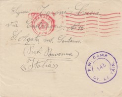 LETTERA PRIGIONIERI GUERRA GRAN BRETAGNA (IX745 - 1900-44 Vittorio Emanuele III