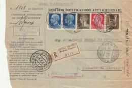 RACCOMANDATA 1937 2X1,25+10+20+5 TIMBRO S.MARTINO DI ACQUASANTA ASCOLI PICENO-ATTI GUDIZIARI (IX716 - 1900-44 Victor Emmanuel III.