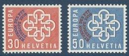 Suisse Schweiz Switzerland CEPT Europa 1959  Yvertn° 632-633 *** MNH  Cote 35 € - 1959