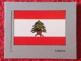 SPAIN ANTIGUO PEQUEÑO CROMO RARE SMALL OLD COLLECTIBLE CARD 1983 BANDERAS Y ESCUDOS 111 LEBANON LIBANO ASIA FLAG BANDERA - Cromos