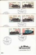 MONACO - 1968 - Lot De 3 FDC - Trains - FDC