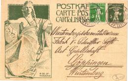 Biglietto Commemorativo Inaugurazione Monumento Unione Postale Universale ( 222 ) - Covers & Documents