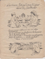 TRES RARE DESSIN PORNOGRAPHIQUE MILITARIA GUERRE 1914 1918 ACTION DIPLOMATIQUE DANS LES BALKANS PORNO - 1914-18