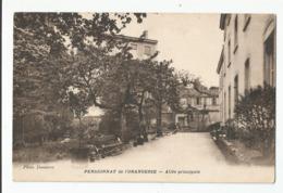 Cpa Pensionnat De L'orangerie Allée Principal , St Germain Au Mont D'or Ou Caluire Et Cuire Rhone 69 ? - Cartes Postales
