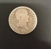 50 Centesimi O Mezzo Franco 1808 A Napoleone I° Demi Franc Laureate Head - Frankreich