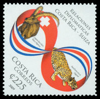 COSTA RICA Relation Avec La Suisse 1v Neuf ** MNH - Costa Rica