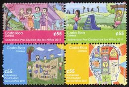 COSTA RICA Timbres Pour Enfants 2011 4v Neuf ** MNH - Costa Rica