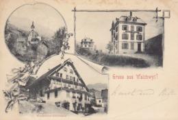 Lithographie : Gruss Aus Walchwyl , Pionnière De 1898    ///  REF  SEPT.  19  /// N° 9411 - ZG Zug