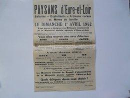 VIEUX PAPIERS - LA FAMILLE - N° SPECIAL : Paysans D'EURE ET LOIR - 1 Er Avril 1962 - Afiches