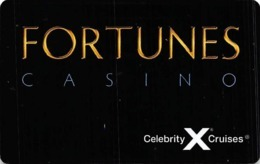 Celebrity Cruises Fortunes Casino Card - Card Is NOT BLANK - Patron Info Printed In Black Ink - Casino Cards