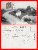 CPA KIUKIANG (Chine)  Shiripu Bridge At Kuling Road, Animé, Chaises à Porteurs...J818 - Cina