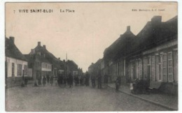 Sint Eloois Vijve - Vive Saint Eloi (Waregem) - La Place - Estaminet A La Concorde - Edit Silvain Biebuyck)  - Feldpost - Waregem