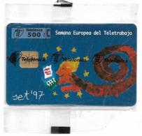 Spain - Telefónica - Semana Europea Del Teletrabajo (Blue) - P-294 - 10.1997, 6.000ex, NSB - Private Issues