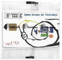 Spain - Telefónica - Semana Europea Del Teletrabajo (White) - P-293 - 10.1997, 6.000ex, NSB - España