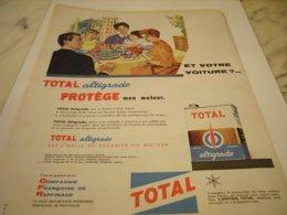 ANCIENNE  PUBLICITE  HUILE TOTAL ALTIGRADE  1960 - Other