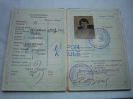 Greece Passport Reisepass Passeport 1934 With Many Interesting Revenues And Ink Stamps - Documenti Storici