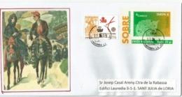 Entier Postal Andorran , Ayant Circulé En Principauté - Entiers Postaux & Prêts-à-poster