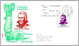 Centenario Del Nacimiento De GUILLEN DE CASTRO. Escritor - Writer. SPD/FDC Madrid 1970 - Escritores