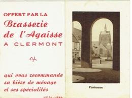 Calendrier. Clermont. Brasserie De L'Agaisse. 1951. - Formato Piccolo : 1941-60