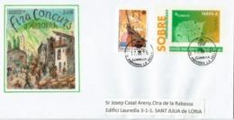 Entier Postal Andorran , Ayant Circulé En Principauté - Lettres & Documents