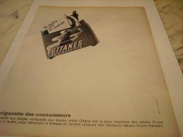 ANCIENNE PUBLICITE LA DERNIERE VAUT LA PREMIERE  CIGARETTE GITANES 1964 - Other