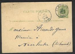 1884 Fleurus Vers Leau - Neerlinter   Geens  ( Klass Heuroud ) - Stamped Stationery