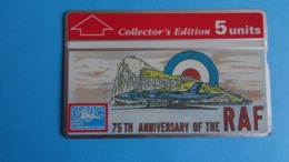 Gibraltar - Télécarte Collector's Edition 5u : 75th Anniversary Of The Royal Air Force 1918-1993, Used - Gibraltar