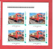 BLOC 4 TIMBRES NEUFS LE TRAIN TOURISTIQUE DE L AUXOIS 2013 AUTORAIL ACTA LES LAUMES ALESIA SEMUR EN AUXOIS EPOISSES - Eisenbahnen