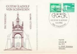 DDR 1982 - Gustav II Adolf 350. Todestag - Private Stationery CTO Lützen 6.11.1982 - [6] Repubblica Democratica