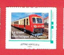 FRANCE TIMBRE NEUF LE TRAIN TOURISTIQUE DE L AUXOIS 2013 AUTORAIL ACTA LES LAUMES ALESIA SEMUR EN AUXOIS EPOISSES - Eisenbahnen